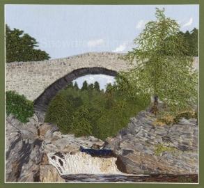 Garve Bridge on the river Blackwater in Ross-shire, Scotland