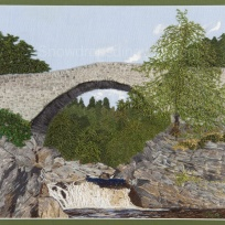 Garve bridge on the Blackwater River, Ross shire