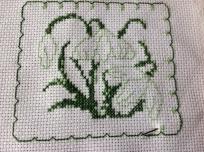 Cross stitch snowdrops